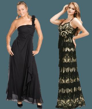 black tie jurken