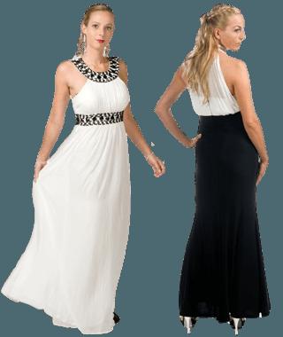 white tie jurken